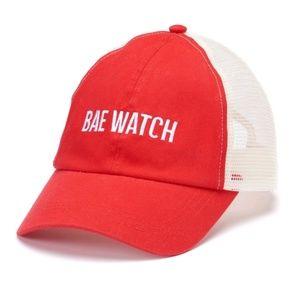 Accessories - Bae Watch Trucker Cap Baseball Hat NWT